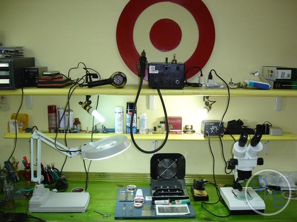 Мастерская сервис-центра по ремонту телефонов