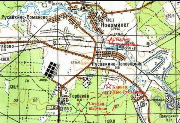 Так выглядит типичная топографическая карта